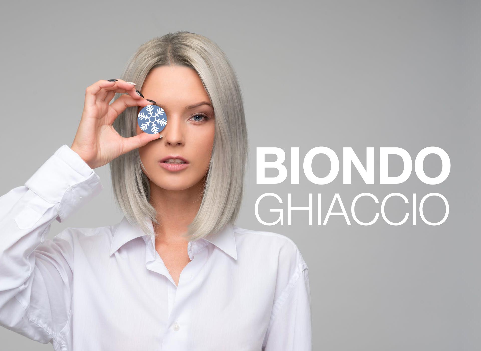 Ragazza capelli Biondo Ghiaccio decolorazione capelli argento platino, prodotti cura capelli